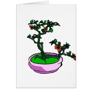 ツツジの盆栽のオレンジによっては盆栽のグラフィックが開花します カード
