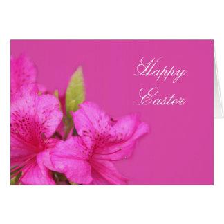 ツツジの花のイースター美しいピンクの挨拶 カード