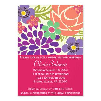ツツジの花の庭のブライダルシャワーの招待状 カード