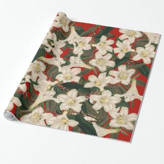 ツツジの花の庭の花の包装紙 ラッピングペーパー
