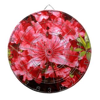 ツツジの赤の花 ダーツボード