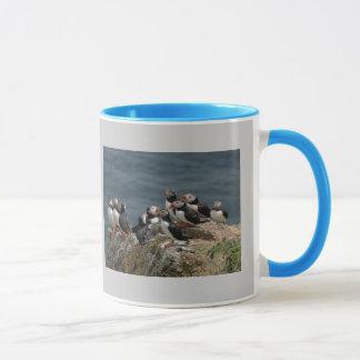 ツノメドリの大会 マグカップ