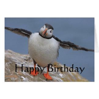 ツノメドリの誕生日の挨拶 カード