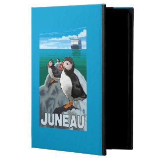 ツノメドリ及び遊航船-ジュノー、アラスカ iPad AIRケース