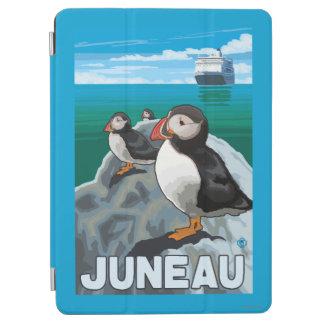 ツノメドリ及び遊航船-ジュノー、アラスカ iPad AIR カバー
