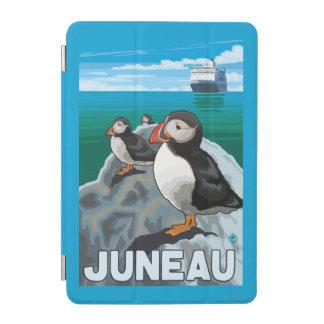 ツノメドリ及び遊航船-ジュノー、アラスカ iPad MINIカバー