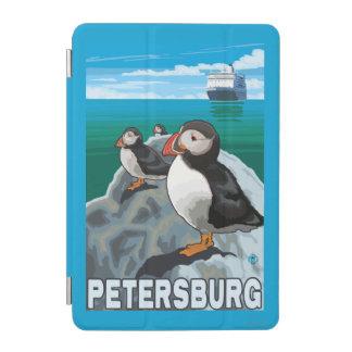 ツノメドリ及び遊航船-ピーターズバーグ、アラスカ iPad MINIカバー
