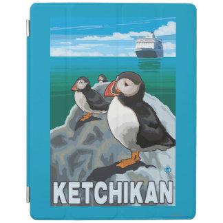 ツノメドリ及び遊航船- Ketchikan、アラスカ iPadスマートカバー
