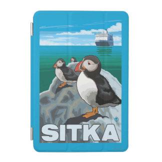 ツノメドリ及び遊航船- Sitka、アラスカ iPad Miniカバー