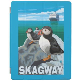 ツノメドリ及び遊航船- Skagway、アラスカ iPadスマートカバー