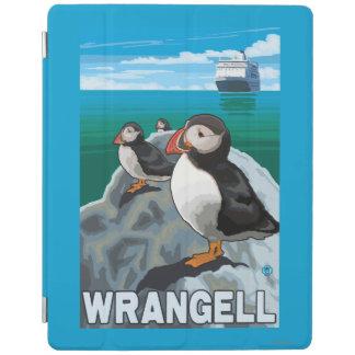 ツノメドリ及び遊航船- Wrangell、アラスカ iPadスマートカバー