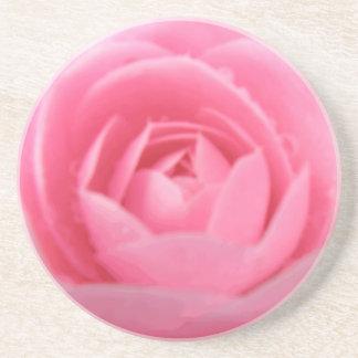 ツバキのピンクの花のコースター コースター
