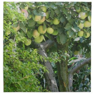 ツリーブランチおよびザクロ木のりんご ナプキンクロス