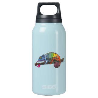 ツリーブランチで休んでいる虹によって着色されるカメレオン 断熱ウォーターボトル