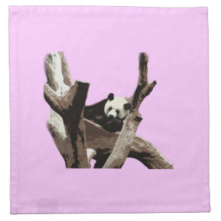 ツリーブランチのリラックスさせるなジャイアントパンダ ナプキンクロス