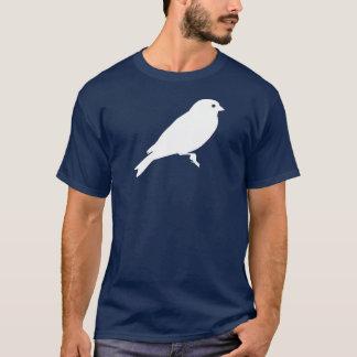 ツリーブランチのTシャツの白でとまっているGoldfinch Tシャツ