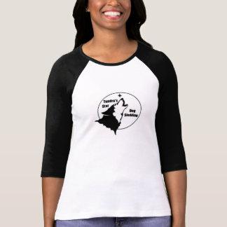 ツンドラ星犬のsledding女性ワイシャツ tシャツ