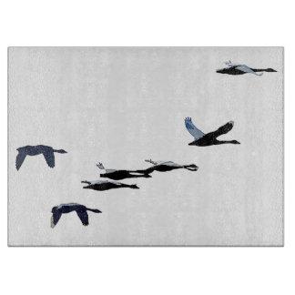 ツンドラ白鳥の鳥の野性生物動物のまな板 カッティングボード