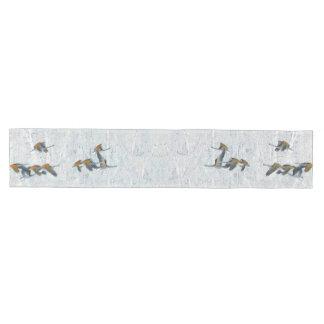 ツンドラ白鳥の鳥の野性生物動物のテーブルのランナー ミディアムテーブルランナー