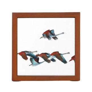 ツンドラ白鳥の鳥の野性生物動物の机のオルガナイザー ペンスタンド