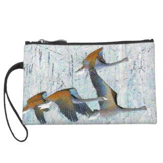 ツンドラ白鳥の鳥の野性生物動物 スエードクラッチ