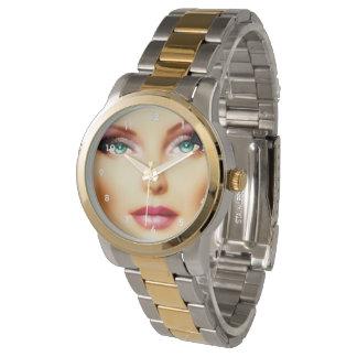 ツートーンあなた自身のイメージのカッコいいDIY IVを挿入して下さい 腕時計