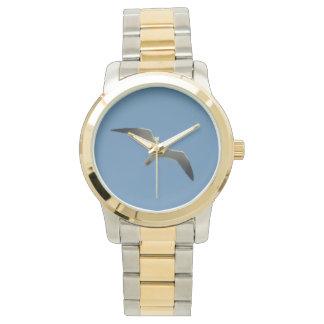 ツートーンカモメの腕時計、金ゴールドおよび銀製の調子 腕時計