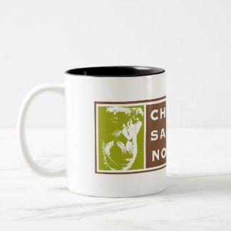 ツートーンチンパンジーの聖域の北西ロゴのマグ ツートーンマグカップ