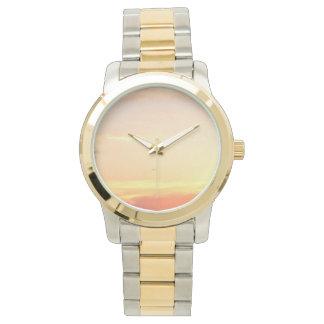 ツートーン金ゴールドおよび銀の腕時計 腕時計