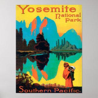 ツーリストポスター-ヨセミテ国立公園、カリフォルニア ポスター