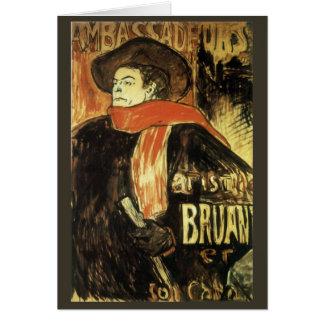 ツールーズLautrec著Ambassadeurs Aristide Bruant カード