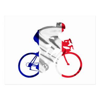ツール・ド・フランスのサイクリスト ポストカード
