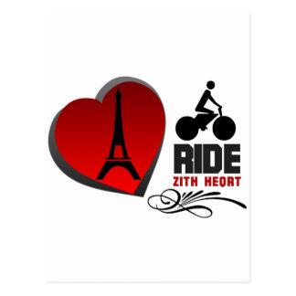 ツール・ド・フランスパリのハート ポストカード