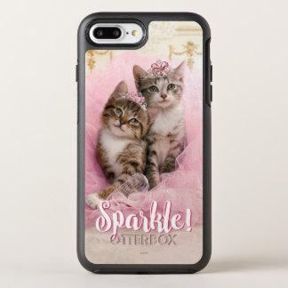 ティアラおよびピンクのきらめくチュチュの甘い子ネコ オッターボックスシンメトリーiPhone 8 PLUS/7 PLUSケース