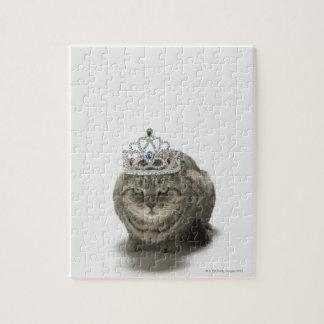 ティアラを身に着けている猫 ジグソーパズル