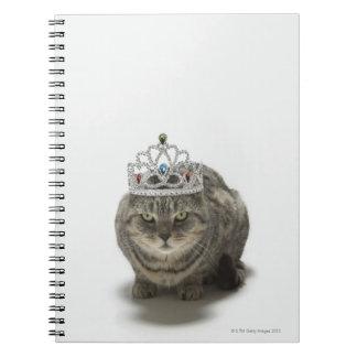ティアラを身に着けている猫 ノートブック