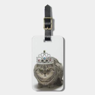ティアラを身に着けている猫 ラゲッジタグ