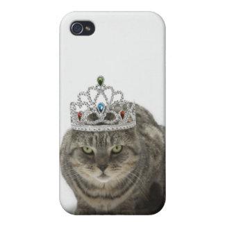 ティアラを身に着けている猫 iPhone 4 CASE