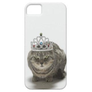 ティアラを身に着けている猫 iPhone SE/5/5s ケース