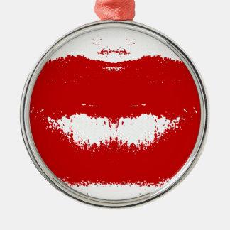 ティッシュの口紅の汚れ メタルオーナメント