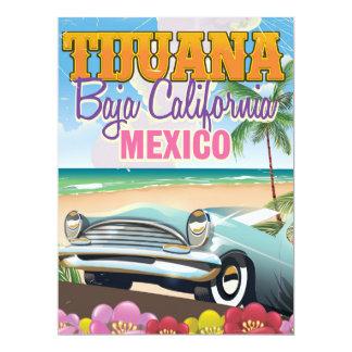 ティフアナバハ・カリフォルニア州メキシコ旅行ポスター カード