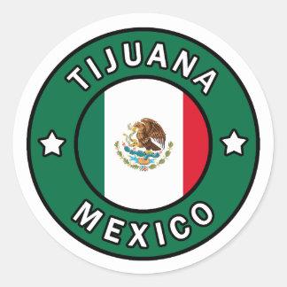 ティフアナメキシコのステッカー ラウンドシール