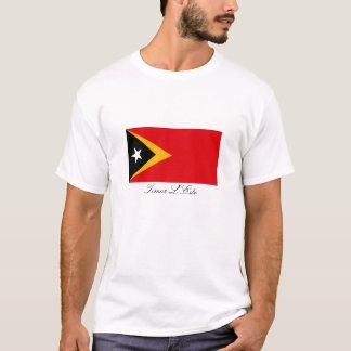 ティモールL'Este東部チモール島の旗の記念品のTシャツ Tシャツ