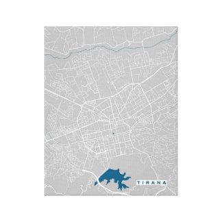 ティラナ都市地図 キャンバスプリント