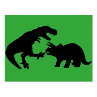 ティラノサウルスおよびトリケラトプスb ポストカード