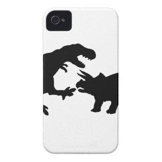 ティラノサウルスおよびトリケラトプスb Case-Mate iPhone 4 ケース