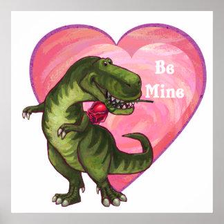 ティラノサウルス・レックスのバレンタインデー ポスター