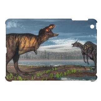 ティラノサウルス・レックスのレックスおよびsaurolophusの恐竜 iPad miniケース