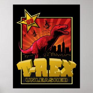 ティラノサウルス・レックスのレックスの恐竜の侵入 ポスター