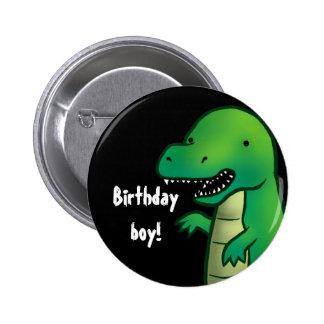 ティラノサウルス・レックスのレックスの恐竜の漫画の誕生日のバッジ 5.7CM 丸型バッジ
